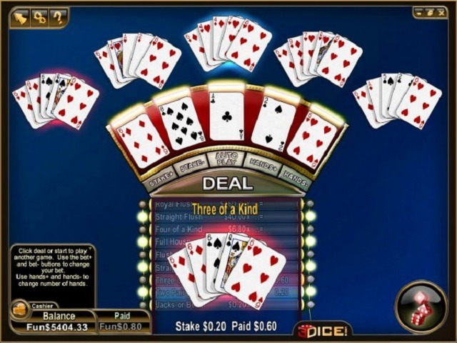 All American Video Poker Multihand Slot
