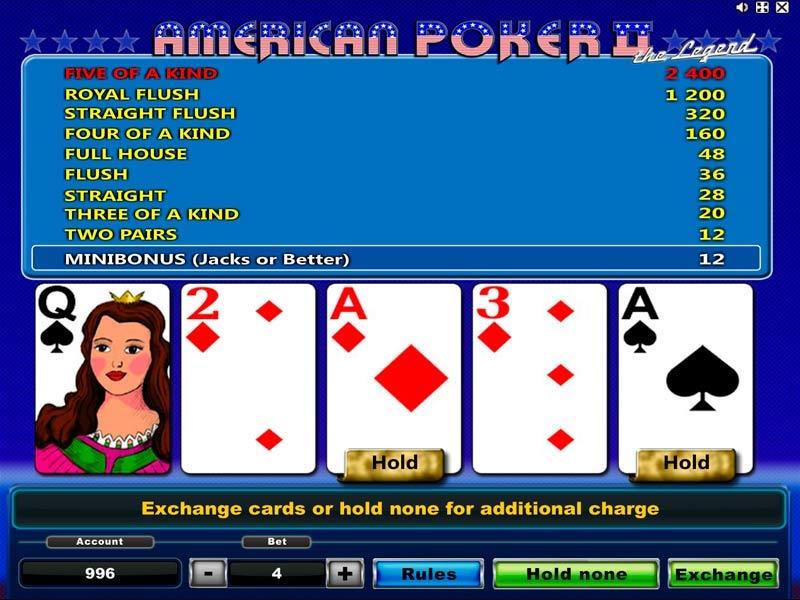 American Poker II Slot
