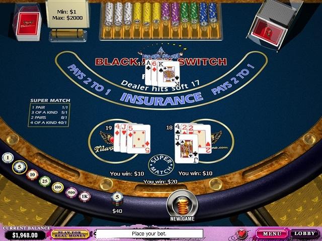 Blackjack Switch Slot