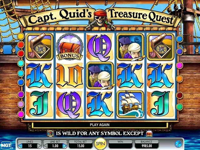 Capt. Quid's Treasure Quest Slot