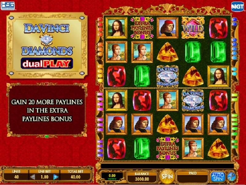 Play Double Da Vinci Diamonds Slot Machine Free With No Download