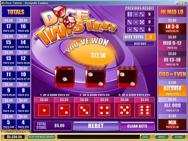 Dice Twister Slot