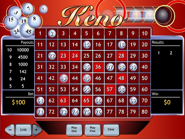 Keno by Playtech Slot