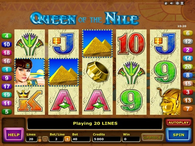 Slot Machines Queen Of The Nile