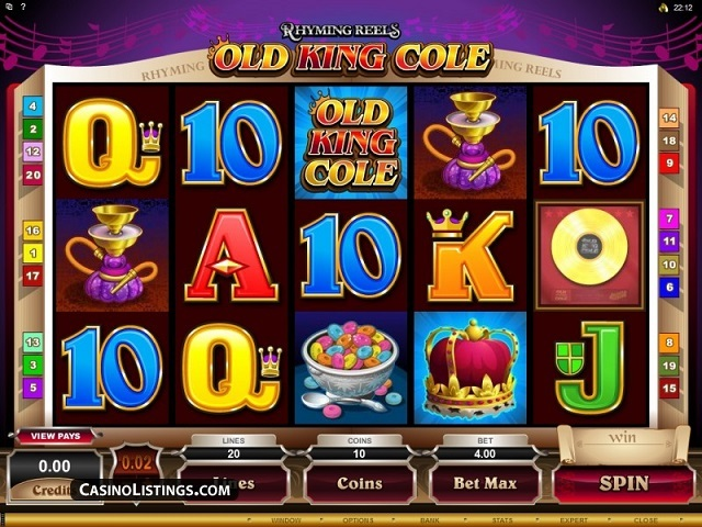 Rhyming Reels – Old King Cole Slot