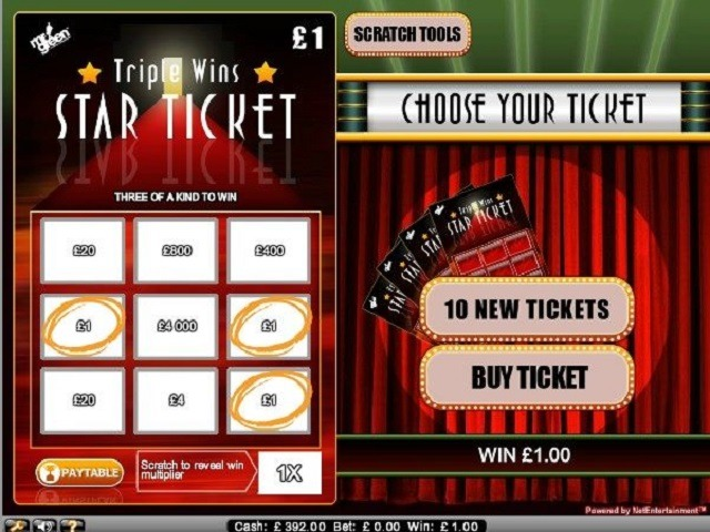 Triple Wins Star Ticket Slot