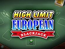 High Limit European Blackjack Slot